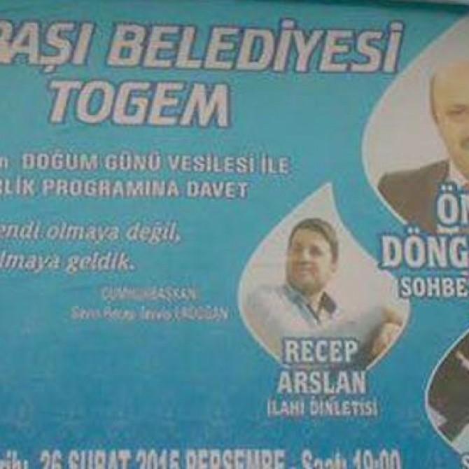 Die Stadtverwaltung von Gölbaşı in Aydiman lädt zum